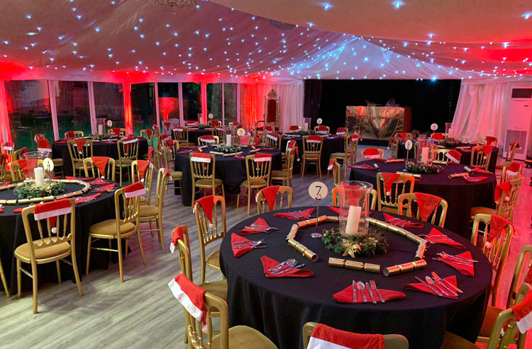 Christmas Party Venue in Essex - Chigwell - London - The Chigwell Marquees