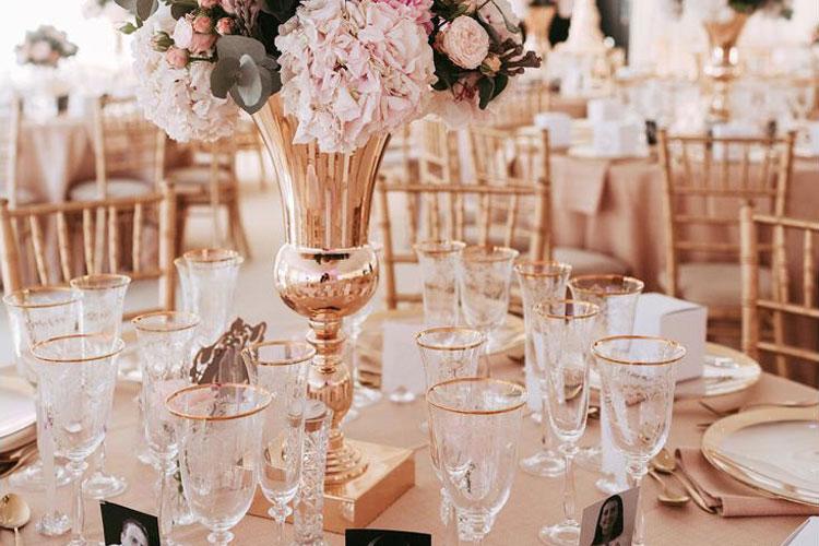 Flower Arrangement - Summer Wedding - Mini Marquee - Chigwell Marquees - Essex