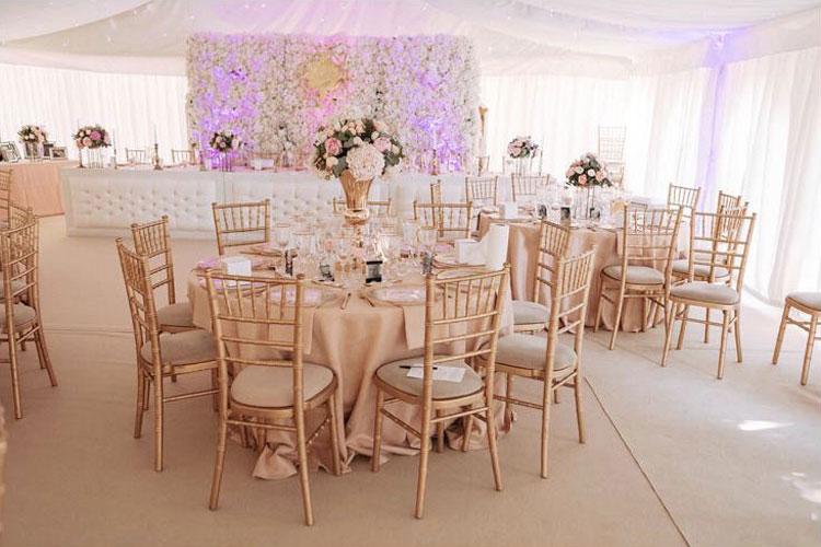 Large Flower Wall - Summer Wedding - Mini Marquee - Chigwell Marquees - Essex